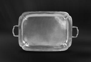 Tablett aus Zinn mit Henkeln - Zinntablett mit Henkeln (Art.775)