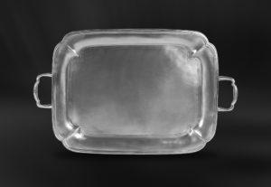 Tablett aus Zinn mit Henkeln - Zinntablett mit Henkeln (Art.776)