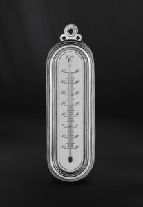 Thermometer aus Zinn (Art.597)