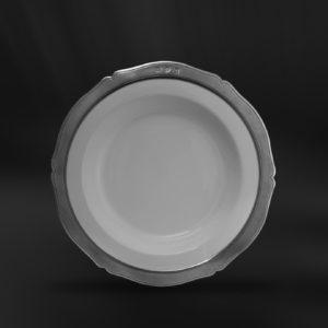 Tiefer Teller aus Keramik und Zinn (Art.791)