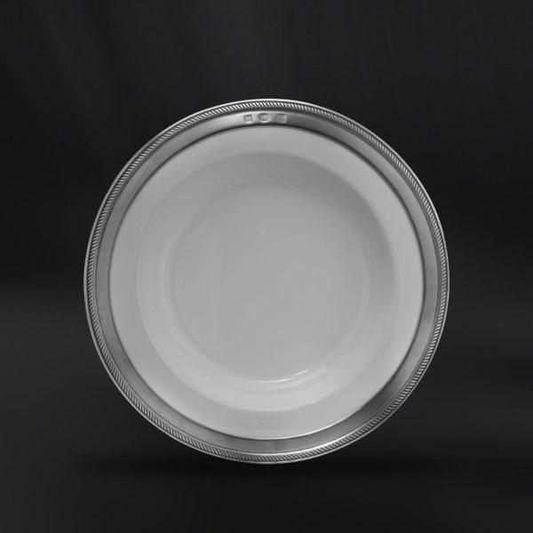 Tiefer Teller aus Keramik und Zinn (Art.851)