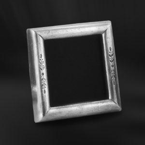Viereckiger Bilderrahmen aus Zinn - Bilderrahmen aus Zinn 13x13 (Art.668)
