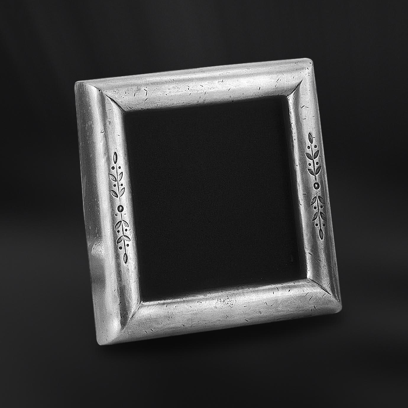 Viereckiger Bilderrahmen aus Zinn 13x13 - La Bottega del Peltro