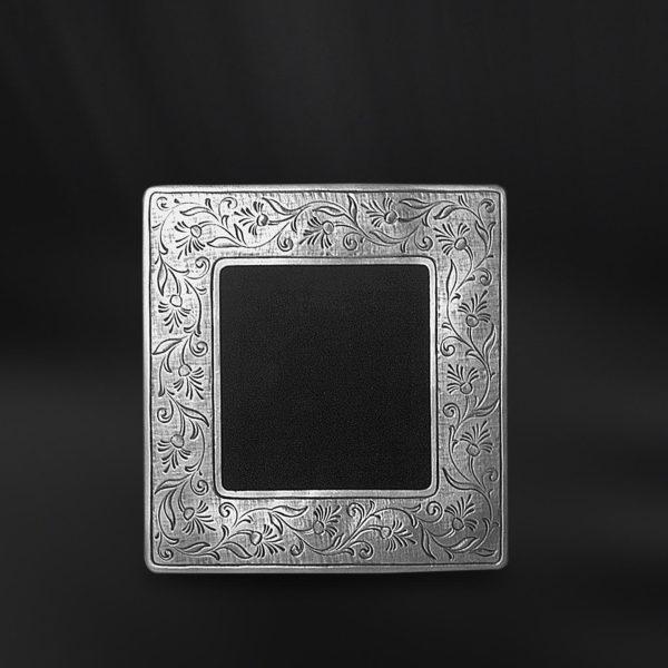 Viereckiger Bilderrahmen aus Zinn - Bilderrahmen aus Zinn 6,5x6,5 (Art.751)