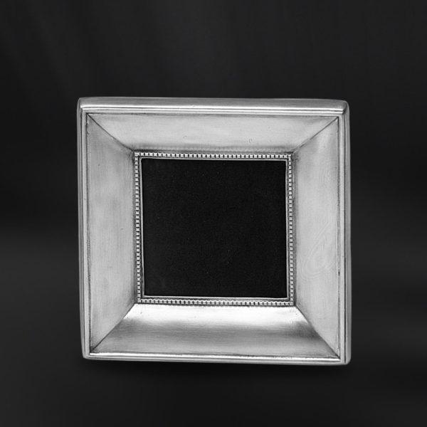 Viereckiger Bilderrahmen aus Zinn - Bilderrahmen aus Zinn 9x9 (Art.558)