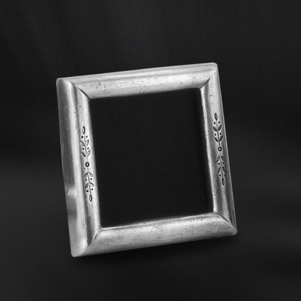 Viereckiger Bilderrahmen aus Zinn - Bilderrahmen aus Zinn 9x9 (Art.667)