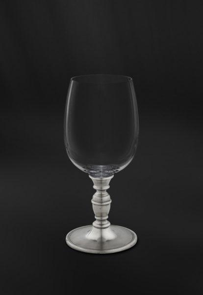 Weinkelch aus Kristallglas und Zinn - Wein Kelch Glass Zinn (Art.812)