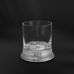 Whiskyglas aus Kristall und Zinn - Old Fashioned Glas - (Art.856)