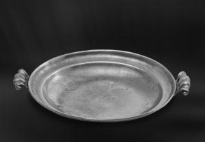 Zinnschale mit Henkeln - Schale aus Zinn (Art.130)