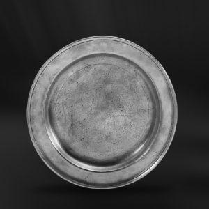 Zinnteller - Flacher Teller aus Zinn (Art.245)