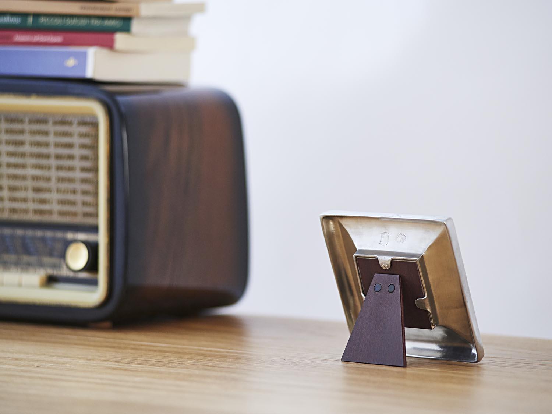 Viereckiger Bilderrahmen aus Zinn 6x6 - La Bottega del Peltro