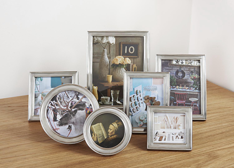 Viereckiger Bilderrahmen aus Zinn 12x12 - La Bottega del Peltro